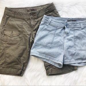 PrAna shorts bundle 4